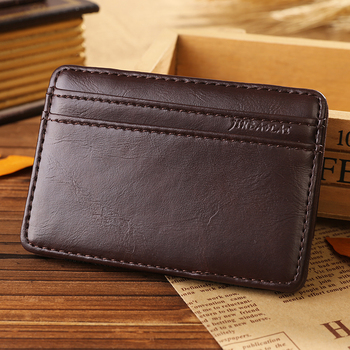 Best Slim PU Magic Wallet with elastic strap