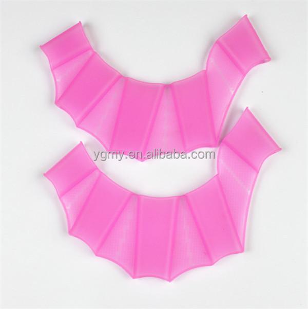 Мягкие силиконовые ласты для плавания, ласты-лягушки для ручного плавания, сетчатые перчатки, многоразмерные тренировочные ласты  <span style=