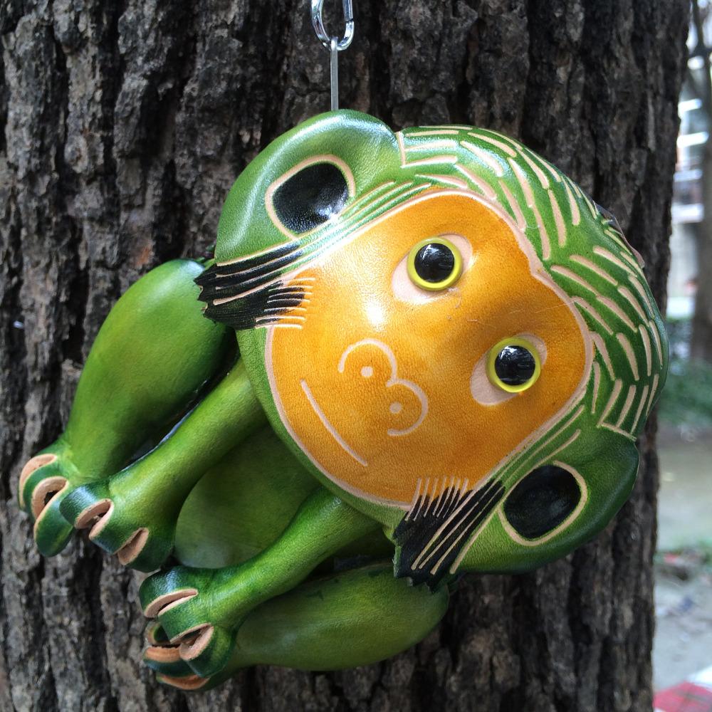 Высокое качество ручная кошельки, Из натуральной кожи монеты мешок и кошелек, Мультфильм красочные обезьяны формы для детей wowen