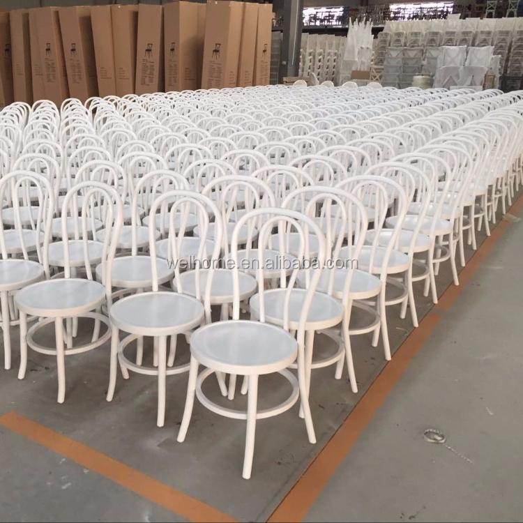 Оптовая продажа, белый стул thonet из Bentwood во французском стиле, однотонный стул для кафе