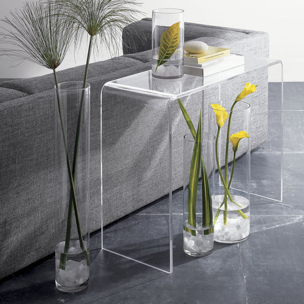 Clear Acrylic Waterfall Console Table Coffee End Table Buy Clear Acrylic Waterfall Console Table Acrylic Coffee Table Acrylic End Table Product On Alibaba Com