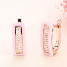 Новые серьги-гвоздики u-образной формы для женщин, ювелирные изделия для ушей, черные, белые настоящие натуральные керамические серьги аксе...(Китай)
