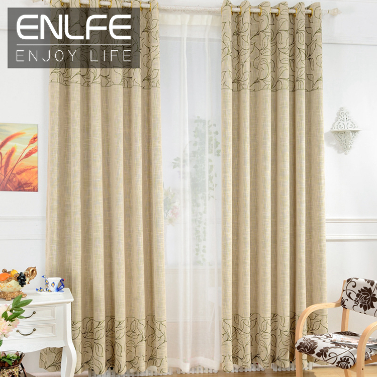 enlfe on sale ready made window curtain set for living room luxury curtains tulle hotel. Black Bedroom Furniture Sets. Home Design Ideas