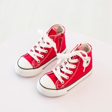 Lace Up and Zip Star Children Fashion Sneakers 2016 spring Children s Convas Casual Sandals shoes