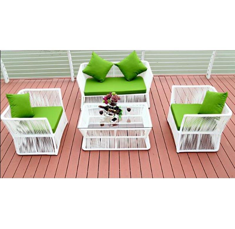 Набор плетеных диванов из ПЭ ротанга для сада