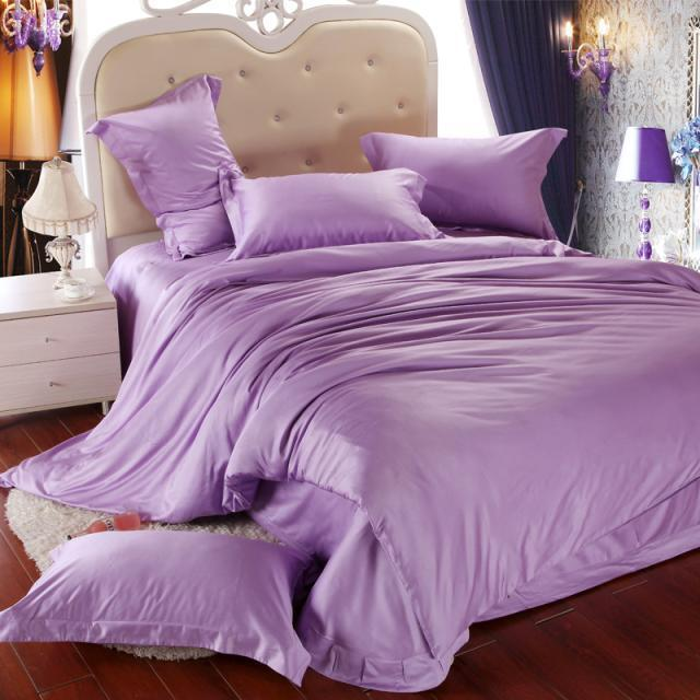 Luxury Light Purple Bedding Set Queen King Size Lilac