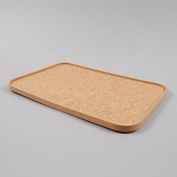 Safe and eco friendly cork tray for restaurant serving tray and dinning room food tray