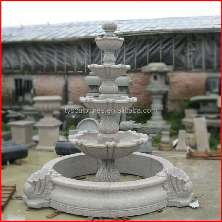 Square garden white marble hand work water fountain stone beautiful fountains