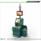 Payment by Paypal 17'' Touch Screen self-checkout kiosk check out counter For Shop