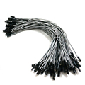 10pcs 26AWG 300mm 2Pin 2P Dupont Housing Wire white and black RC servos extension Lead wire