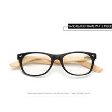 UVLAIK деревянные очки прозрачные линзы для близорукости по рецепту оптические очки для мужчин и женщин мужские бамбуковые очки для глаз проз...(Китай)
