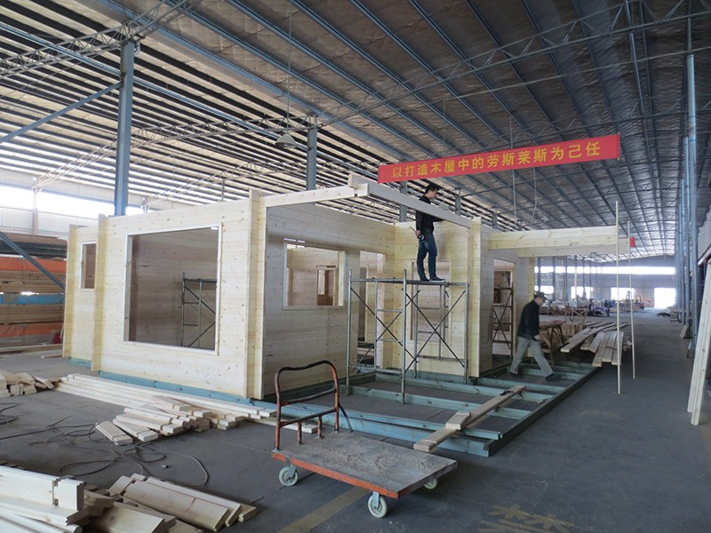 luxury prefabricated holiday wooden house good quality hot sale cheap real estate taizhou linhai