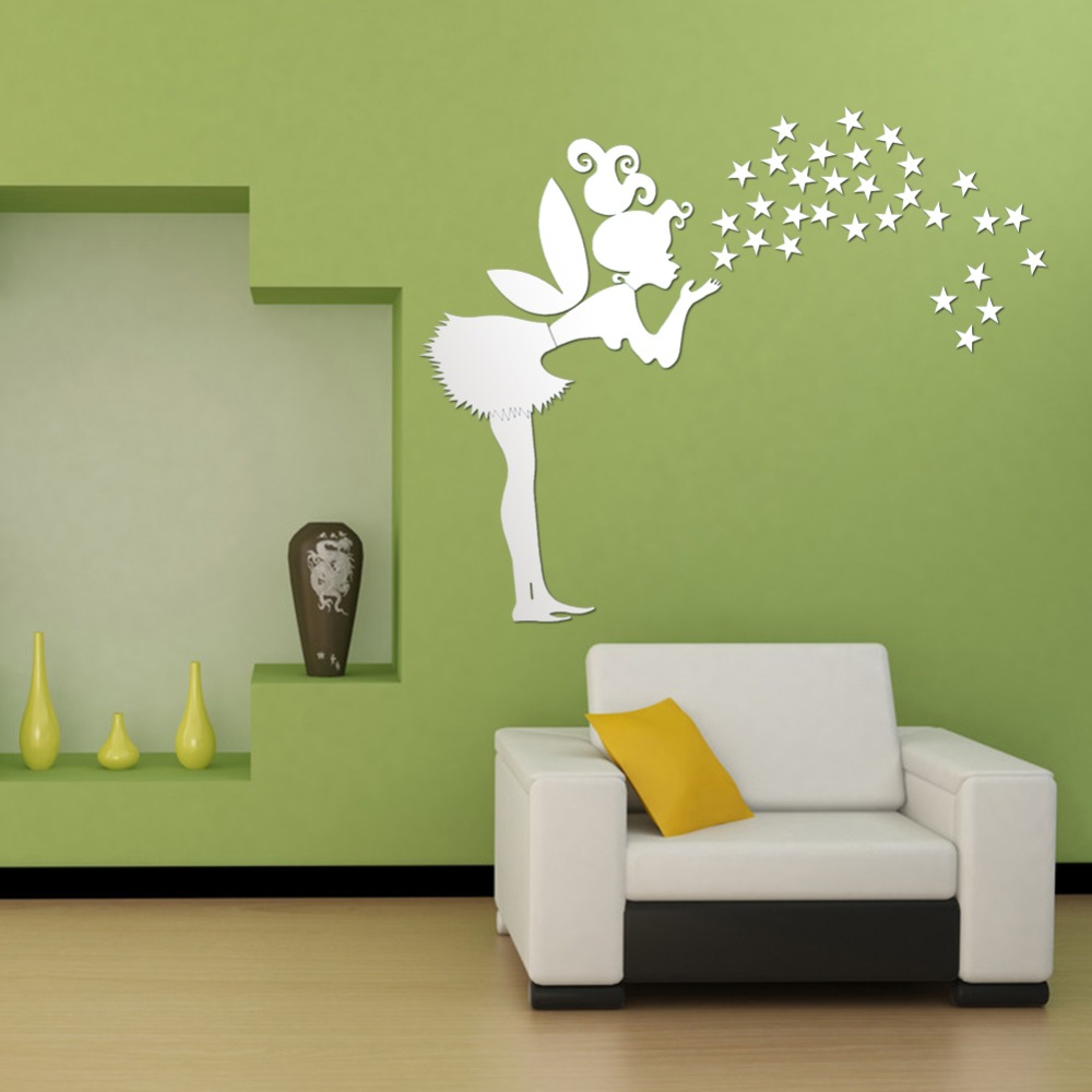 Home Wall Decoration: Home Decor,Kids Bedroom Decoration 3D Mirror Stickers,35
