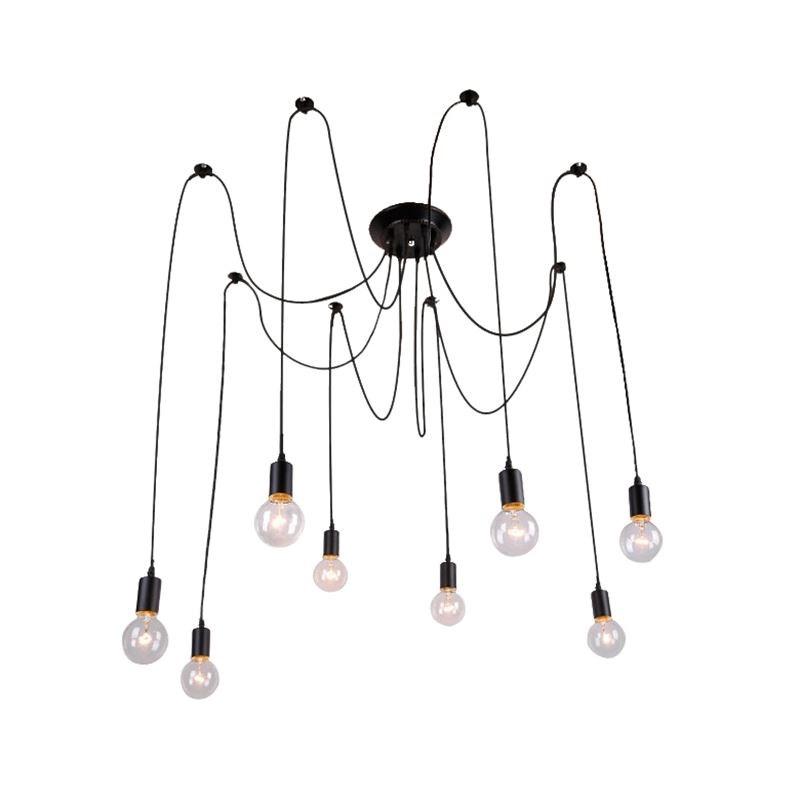 Декоративное освещение для ресторана, современные железные потолочные светильники