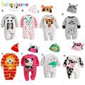 2 Piece 0 18Months Spring Autumn Newborn Rompers For Baby Girls Boys Clothes Cartoon Animals Jumpsuit