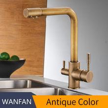 Античный фильтр для кухонных смесителей на бортике смеситель с очисткой воды особенности смеситель кран для кухонных WF-0175F(Китай)