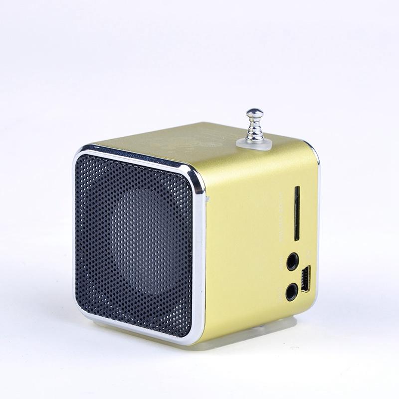 promotion price unique td v26 micro sd tf usb mini speaker mp3 music player portable fm radio. Black Bedroom Furniture Sets. Home Design Ideas