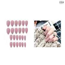 Маникюрный Маникюр 24 шт., матовые наконечники для накладных ногтей, поддельные формы для ногтей для наращивания, маникюрный дизайн для накл...(Китай)