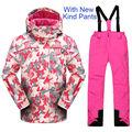 Phibee Winter Girls Waterproof Ski Jacket Ski Pants Thick Warm Snowboard Windproof Breathable 30 Degree Snowboarding