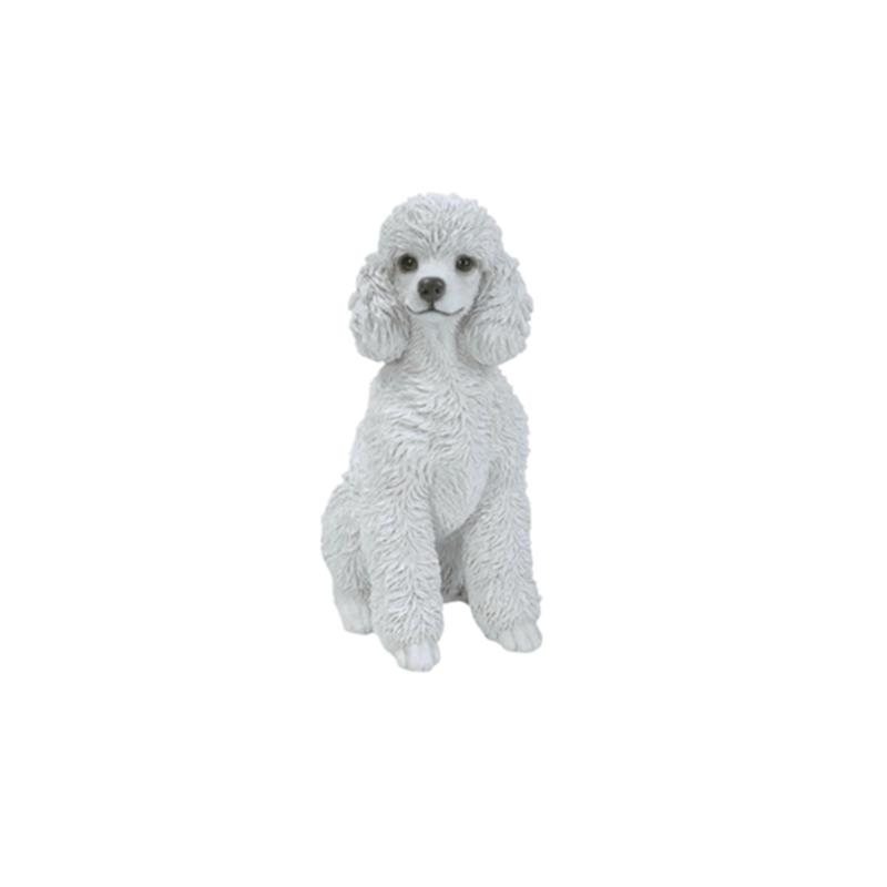 Lovely Animal Figurine White Toy Poodle Dog Garden Statue Buy Poodle Statue Garden Animal Figurine White Dog Figurine Toy Product On Alibaba Com
