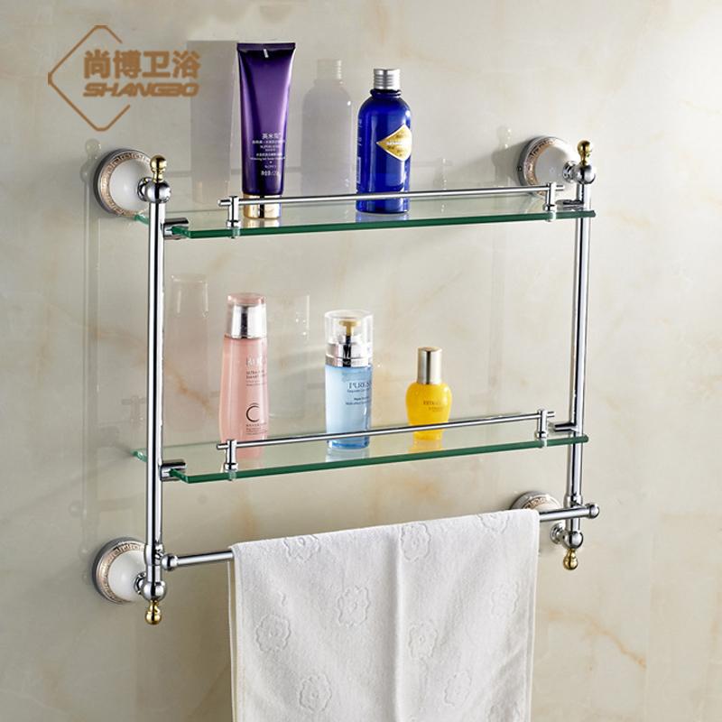 Popular glass bathroom shelves buy cheap glass bathroom - Bathroom accessories glass shelf ...
