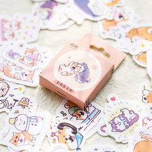 50 листов симпатичная коробка наклейка мультфильм наклейки для ноутбука DIY Декор журнал поставок школьные корейские Канцтовары(Китай)