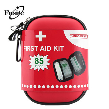 CE ISO EVA 85pcs Travel Camping Emergency Kit Red Survil first aid kit for outdoor