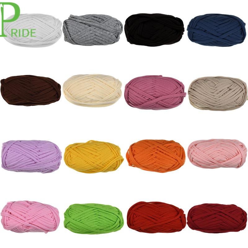 21 Colors for Choosing Knitting Thread Crochet Cloth Yarn DIY Bag Handbag Carpet Cushion Cotton Cloth Yarn Ball 100g/pcs 30M