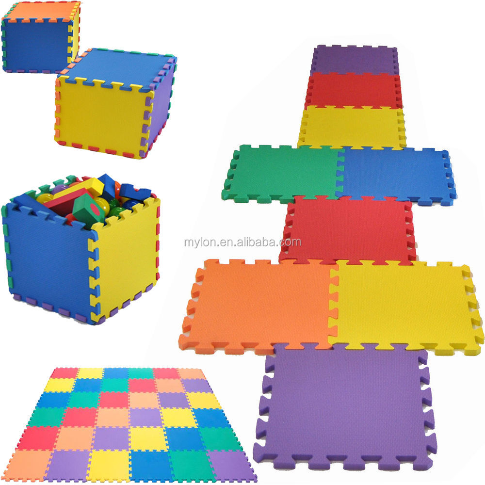 Interlocking Soft foam Play Mats For Children Baby Play Room Garden Exercise