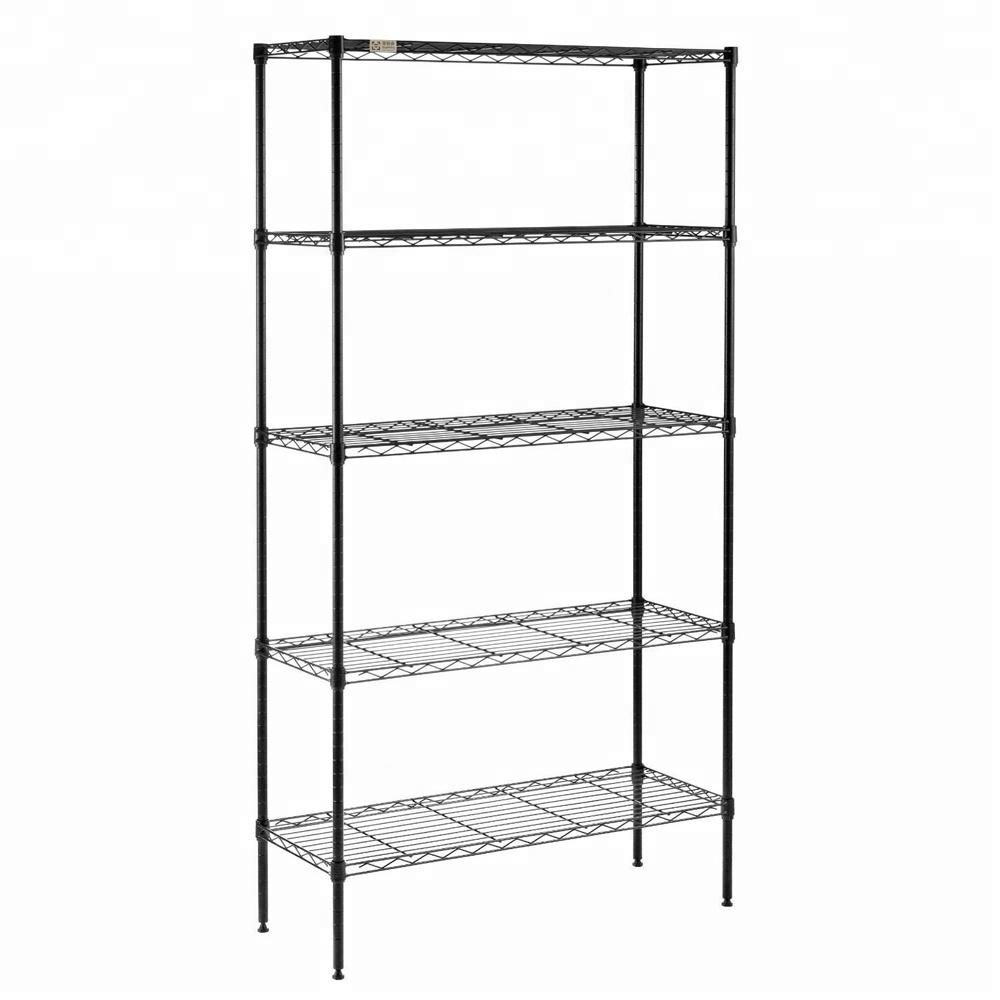 Black Metal Wire Kitchen Rack,Nsf Kitchen Rack,Pantry Shelving ...