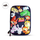 School School UEK Stationery Kids For School Eva Wholesale 3D ZOO Pencil Case Children