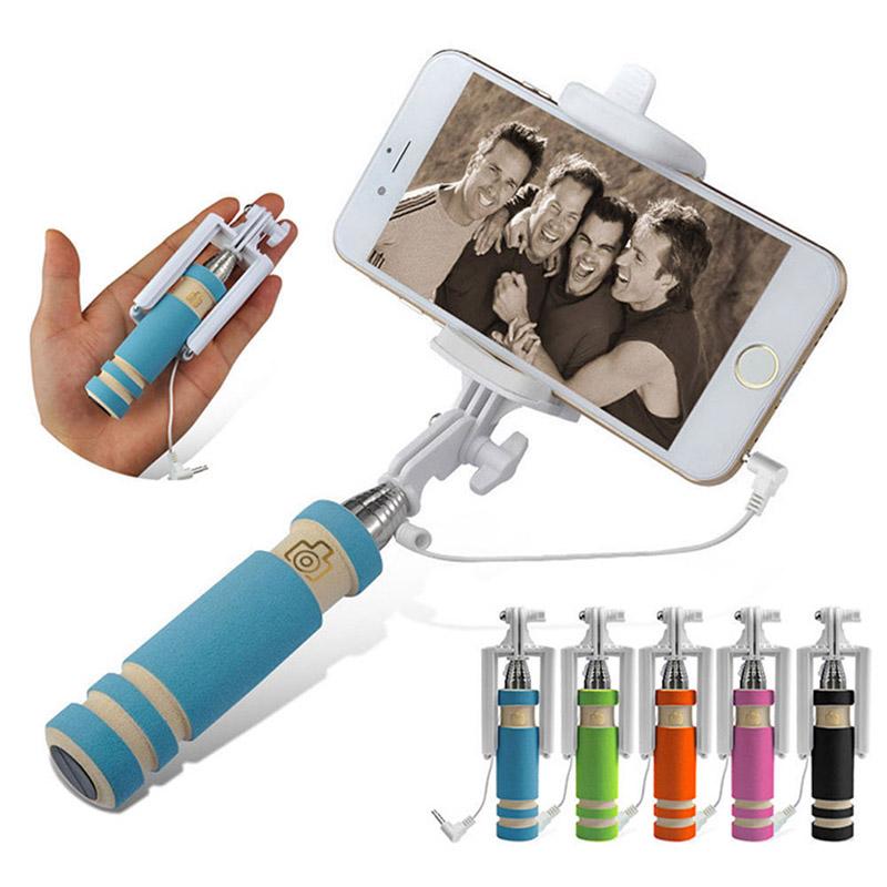2015 супер мини проводной селфи палка ручной монопод для селфи селфи палка палка для селфи для iPhone 6 плюс 5 5S 4S Samsung Andriod