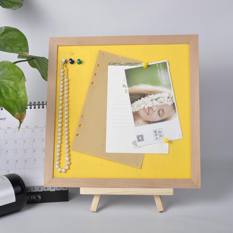 חדש עיצוב 10*10 אינץ לבן הרגיש מכתב לוח כפרי מסגרת הרגיש סיכת לוח