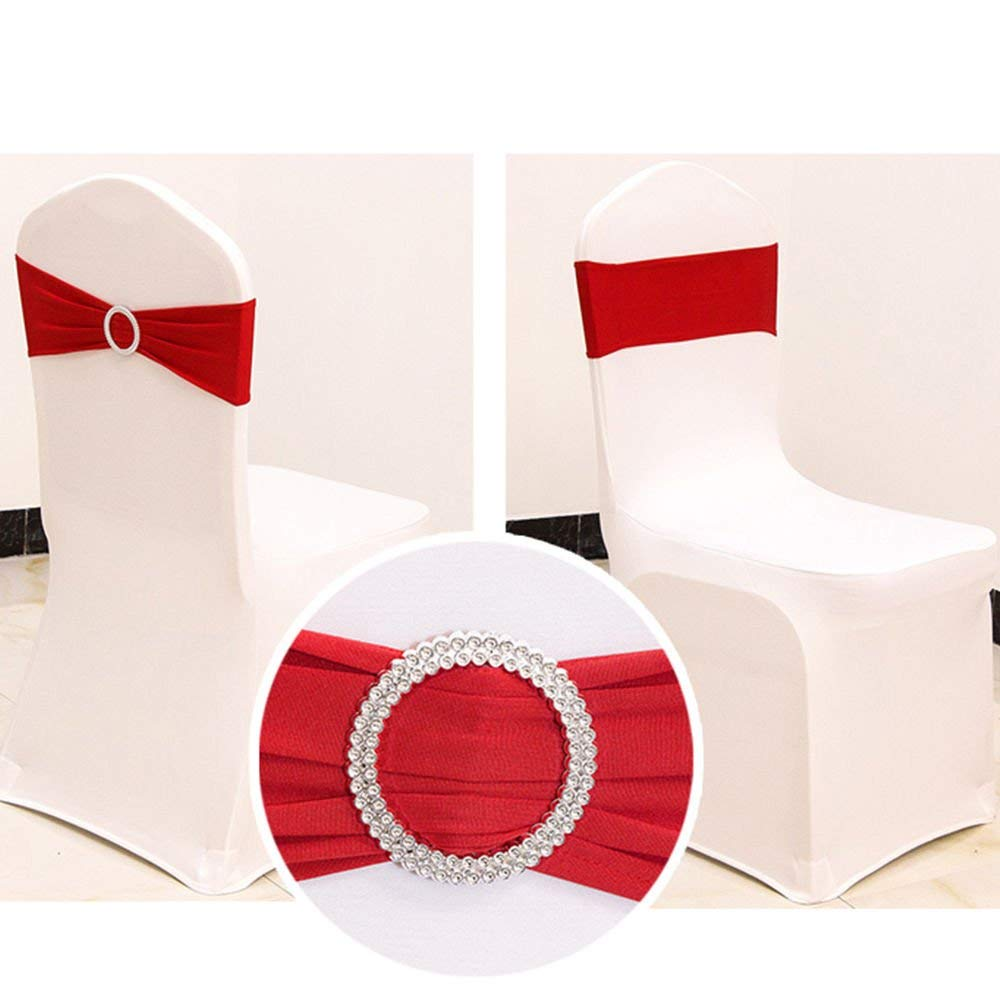 スパンデックス椅子サッシ弓ホットピンク椅子サッシ椅子サッシ結婚式の装飾