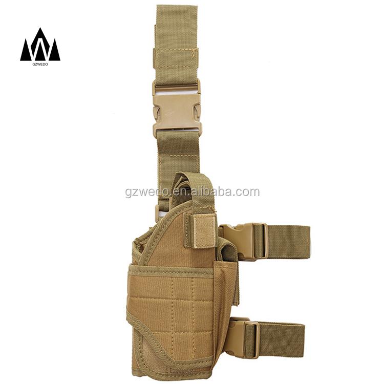 Adjustable Tactical Pistol Gun Thigh Holster With Belt Pouch Right Drop Leg US