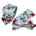 Men s Set Cotton Floral Pocket Square Ties For Men Suit Gravatas Neck Tie Cravat Handkerchief
