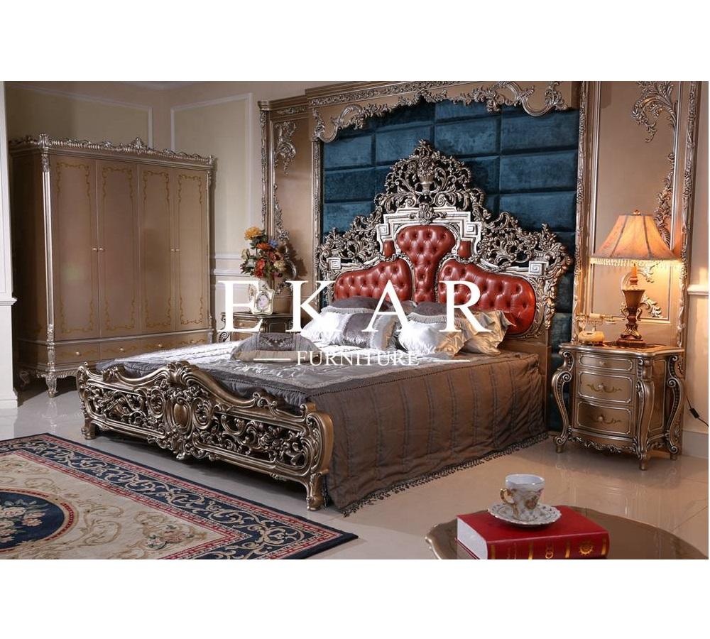 Barock Klassische Bett Rahmen King Size Design Holz Master Schlafzimmer Mobel Buy Wood Bedroom Furniture Wooden Bed Designs Bed Frame King Size Product On Alibaba Com