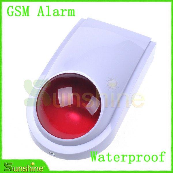 Водонепроницаемый проводной открытый вспышки сирена для беспроводная GSM сигнализация бесплатная доставка, падения доставкой