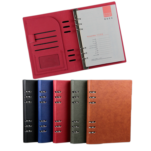Multifunction Spiral PU Leather Notebook Notepad A5 Ring