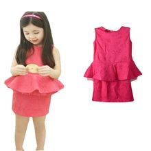 Summer New Children Girl s 2PC Sets Skirt Suit baby Clothing sets dots skirt dots pants