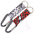 Promotion cheap personalised 25mm short lanyard key chain