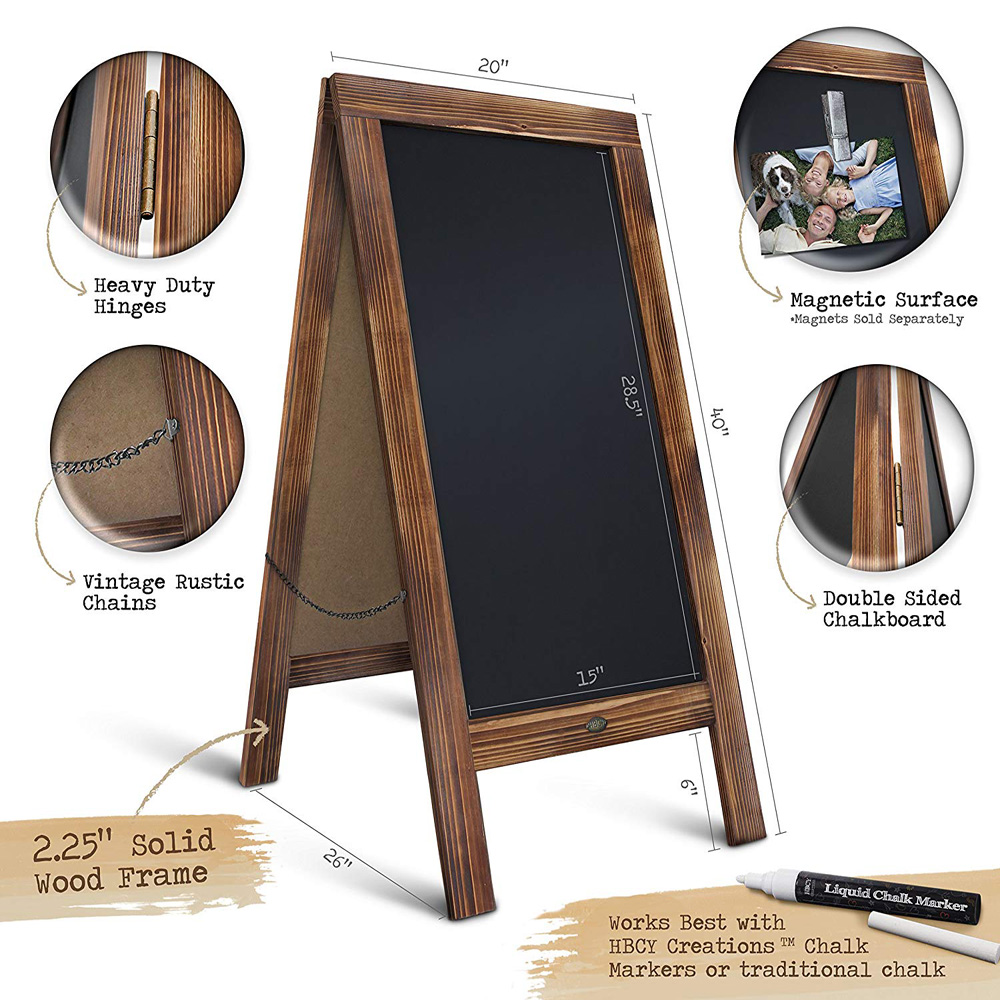 Rustic Magnetic A-Frame Advertising Chalkboard Sign 40