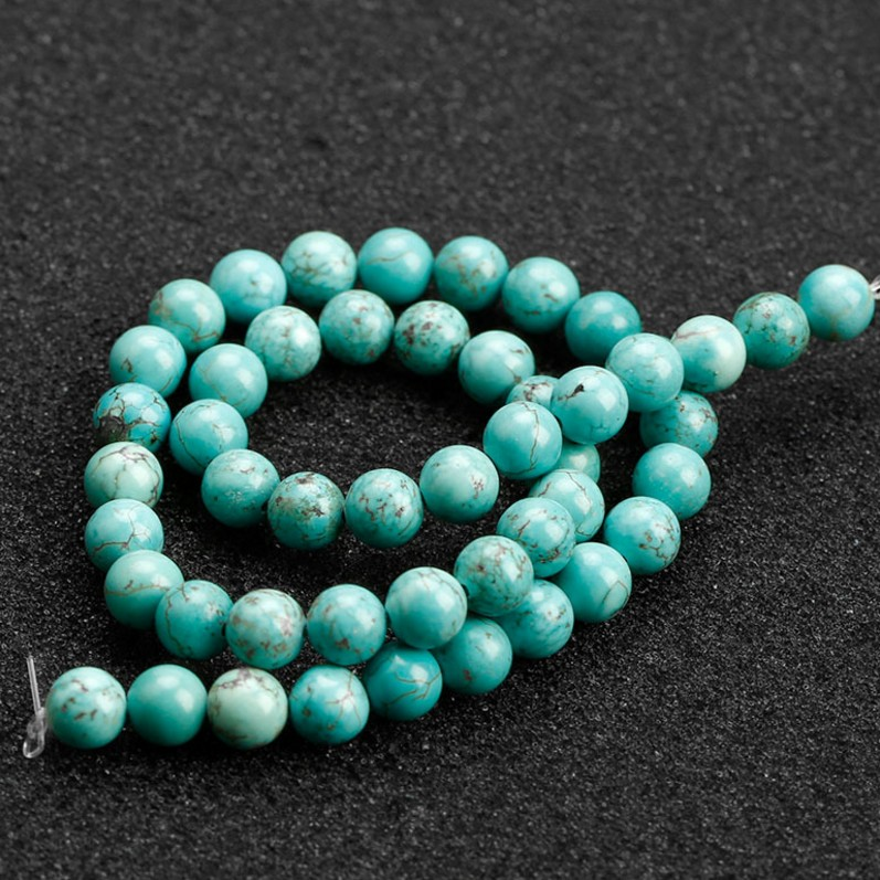 Best Sellers Stone Beads Turquoise Round Loose Beads for Jewelry Making DIY Bracelet Necklace