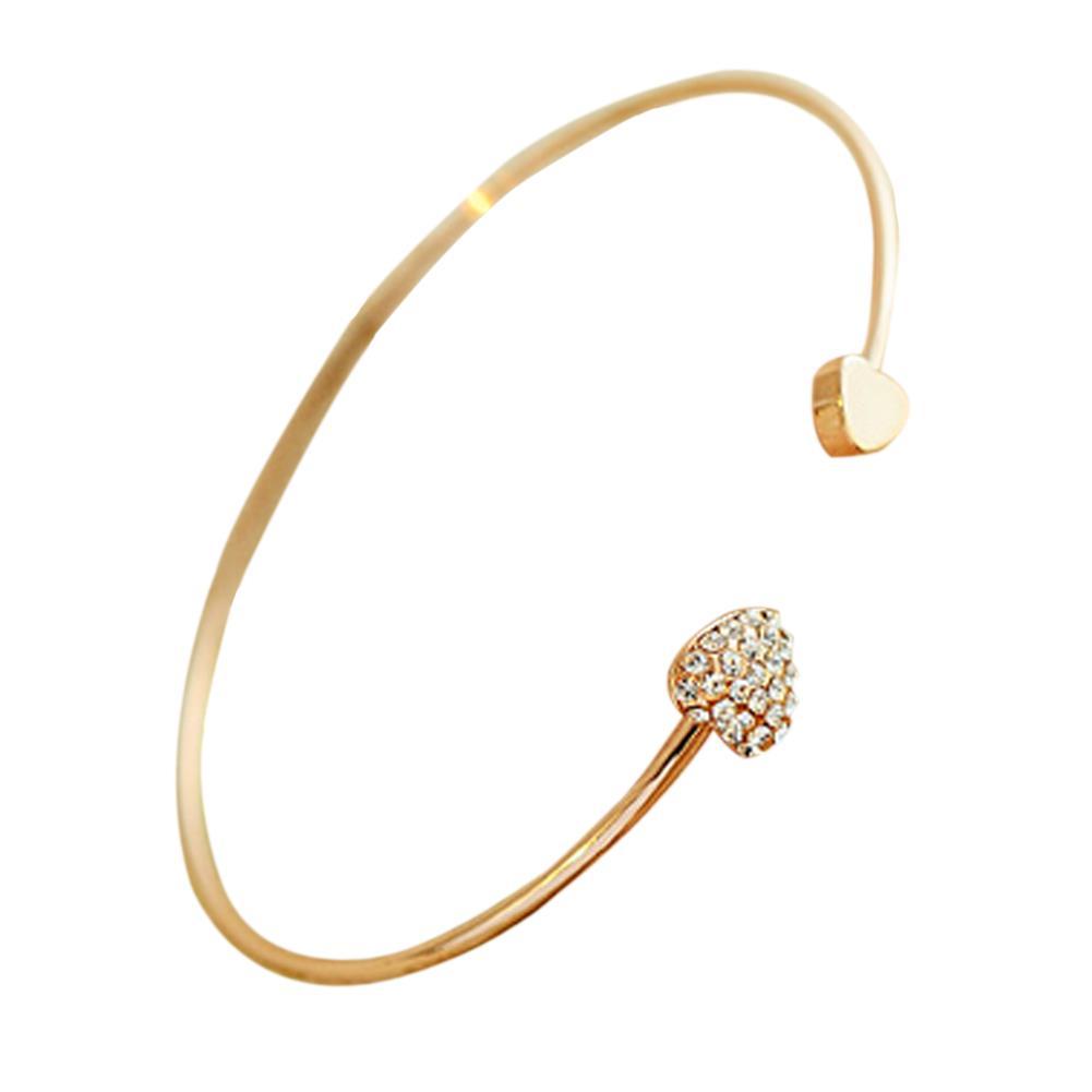Love Bracelet Gold Silver Love Is Heart Bracelets For ...