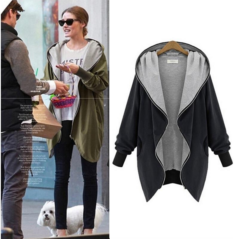 2015 женщин зимнее пальто мода свободного покроя с капюшоном большой размер куртки широкий осень верхняя одежда горячая распродажа