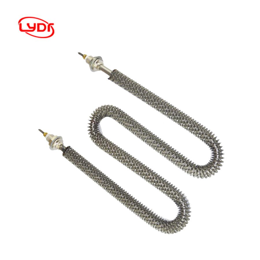 Lydr электрическая нагревательная трубка, нагревательная трубка 500w-3000w ребристый трубчатый нагреватель для нагрева воздуха