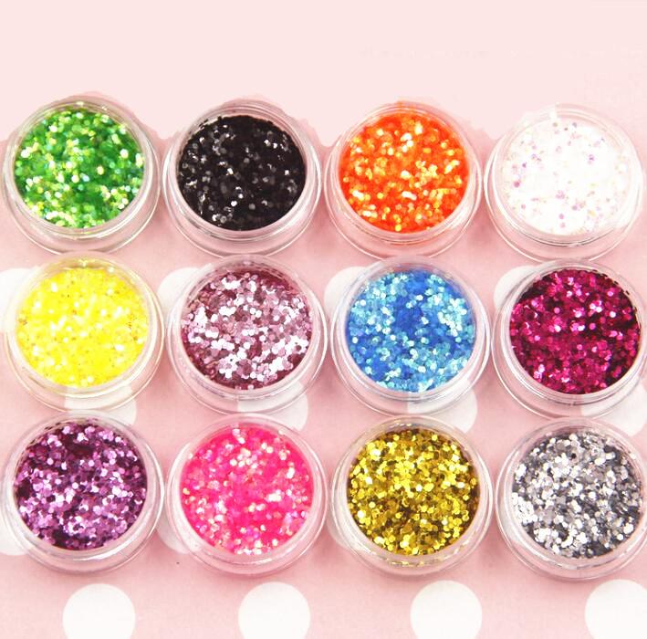 Детали для ногтей 12 различных форм, полимерные Ломтики для ногтевого дизайна, ингредиенты для слайма для украшения и смешивания слайма