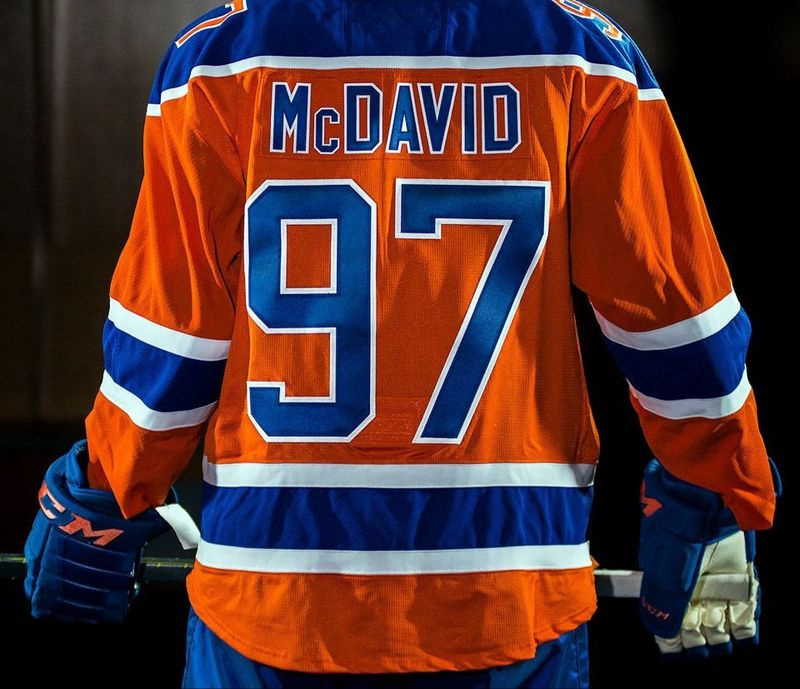 low priced 81081 ade32 Cheap Discount Mens Jerseys 97 Connor McDavid Orange Ice ...