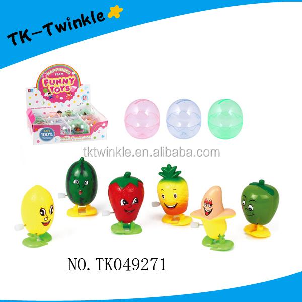 Детская игрушка пластиковые яйца Капсулы Фрукты маленькие заводные игрушки рекламная игрушка
