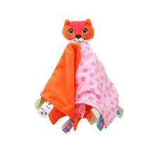 Мягкая детская кукольная игрушка для новорожденных животных, подарок, детское стеганое одеяло, одеяло для детей, мягкая липкая игрушка для ...(Китай)